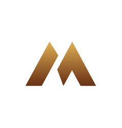 luxury letter m logo design concept template vector image