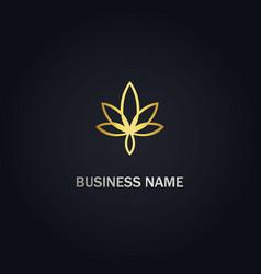 Marijuana cannabis gold logo vector