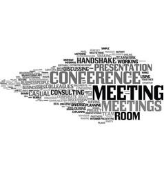 Meetings word cloud concept vector
