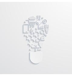modern lightbulb icons vector image