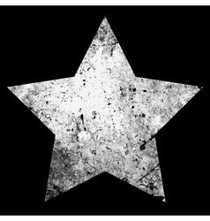 One Star Grunge vector image
