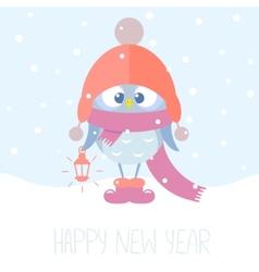 owlet winter vector image vector image