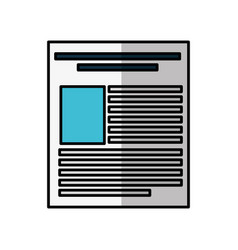 Paper document file icon vector