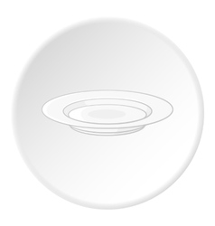 Plate icon flat style vector