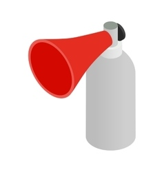 Portable plastic red megaphone isometric 3d icon vector image