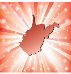 Red West Virginia vector image