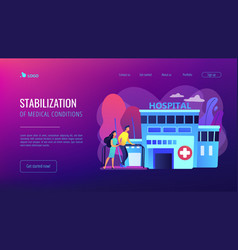 Rehabilitation center concept landing page vector