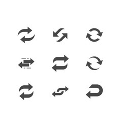 Reverse flat glyph icons vector