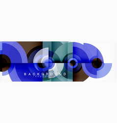 round circles and triangles abstract background vector image
