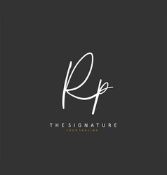 Rp initial letter handwriting and signature logo vector