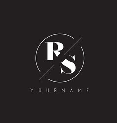 rs letter logo with cutted and intersected design vector image
