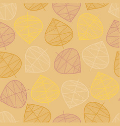 scattered autumn leaves seamless background vector image