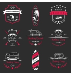 Set of Surf Logo and Badges vector image