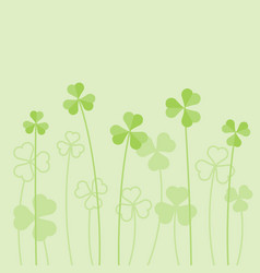 shamrock or clover background vector image