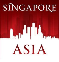 Singapore Asia city skyline silhouette vector