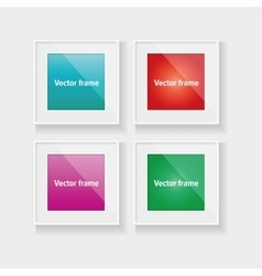Square frames set with colorful abstract vector