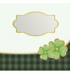 St Patrick's theme with shamrock vector