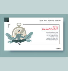 time management and productivity at work website vector image