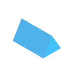 Triangular prism vertical geometric figure banner vector