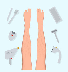 Types and methods of hair removal vector