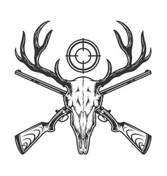 Vintage monochrome hunting template vector