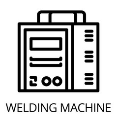 Welding machine icon outline style vector