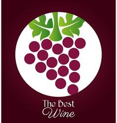 Wine design over purple background vector