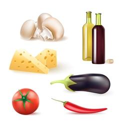 wine vegetables vector image