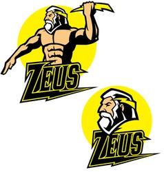 Zeus god mascot vector