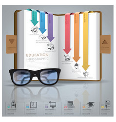 Education And Graduation Infographic With Line vector image