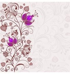 gentle floral easter frame vector image vector image
