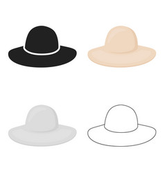 hat icon of for web and mobile vector image