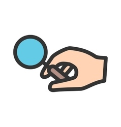 Holding magnifier vector