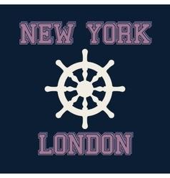 New york london typography t-shirt graphics vector