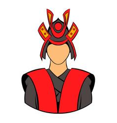 samurai icon cartoon vector image vector image