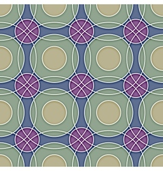 Seamless Ceramic Circles Background vector image