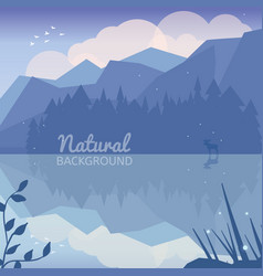 alaska landscape natural background vector image