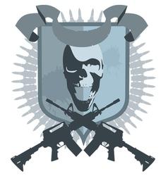 emblem gangster vector image