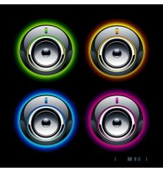 high tech speakers vector image vector image