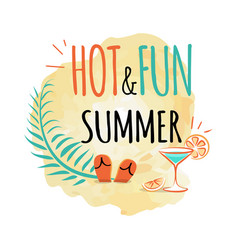 hot and fun summer icon isolated on white vector image vector image
