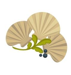 Icon of oysters Sea food symbol shellfish ocean vector image vector image