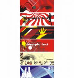 urban banners vector image vector image