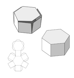 Box with Die Cut Template Packing box For Food vector image vector image