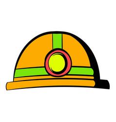 helmet with flashlight icon icon cartoon vector image vector image
