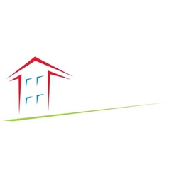 house at arrow vector image vector image