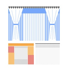Flat colored curtains vector image