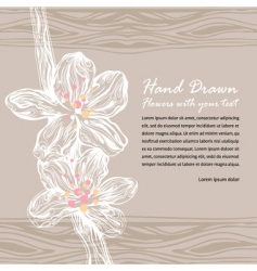 floral drawing with flowers vector image vector image