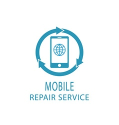 Repair phone logo fix service mobile and tablet vector image vector image