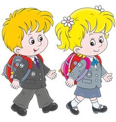 Schoolchildren vector image vector image