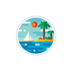Summer vacation logo creative vector image vector image